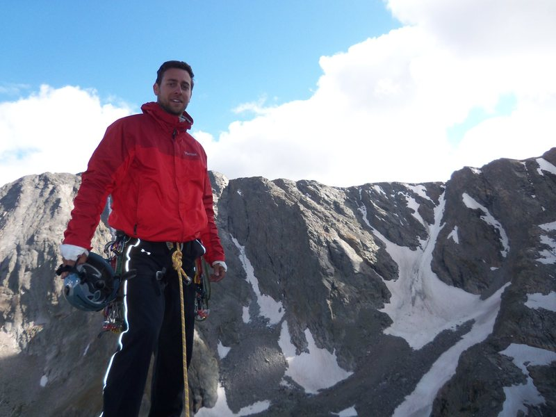 On the Summit of the Petit Grepon