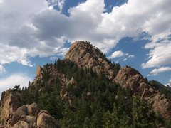 Rock Climbing Photo: From Summit of Redgarden Wall - Eldo
