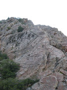 Rock Climbing Photo: Looking up from the base of the Blister Hill Bypas...