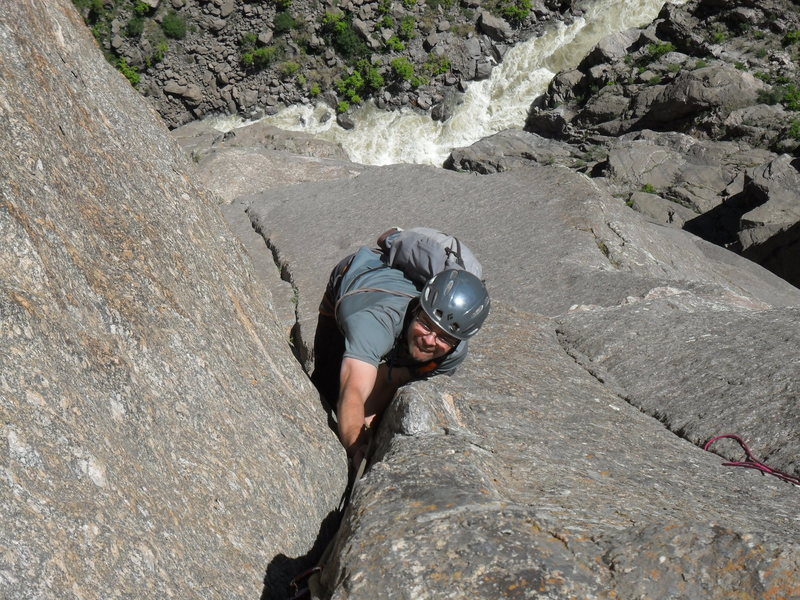 Rock Climbing Photo: Second pitch off two boulder bivy