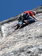 Rock Climbing Photo: Nearing the anchor on Goldmember.