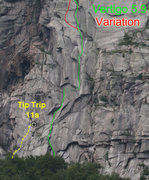 Rock Climbing Photo: A topo I borrowed from Lee