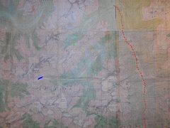 Rock Climbing Photo: BATTLE RANGE scale 1 : 50,000 contour interval 100...