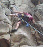 Rock Climbing Photo: Me at Bozoo Rocks (Bozoo, WV)