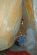 Rock Climbing Photo: Charlie Barrett trying something different on 'Fis...