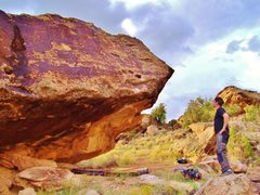 Rock Climbing Photo: Crazy Diamond west face overhang.