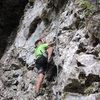 Wey's first climb. Fairy Caves (5.4) He's of the dwindling Bidayu tribal group. Sarawak, Malaysia