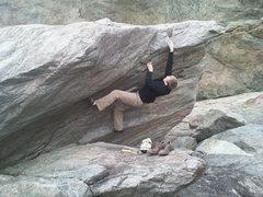 Rock Climbing Photo: High toe....V3-4