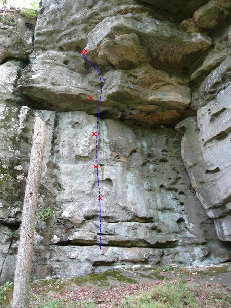 Rock Climbing Photo: Left Face