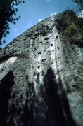 Rock Climbing Photo: New Diversions - follow the right facing crack to ...
