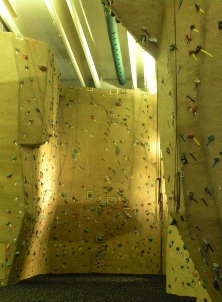 Indoor Climbing Facility. 6 hydraulic auto belays. Over 20 Top ropes and 8 lead climb lines.