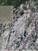 Rock Climbing Photo: Here is my crappy update to Lee Jensen's nice topo...