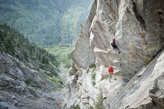 Rock Climbing Photo: Its a really good idea to belay from the first bol...