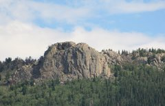 Rock Climbing Photo: Zappa's Tooth, as viewed from CO Hwy 7 near Allens...