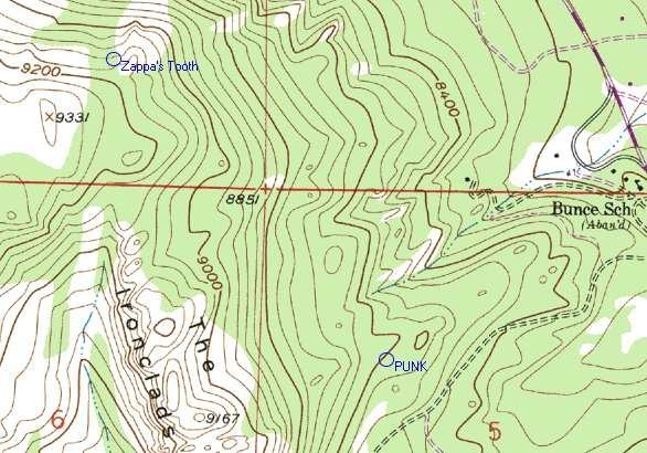 Topo of the precise location of the crag.