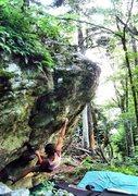 Rock Climbing Photo: Sheila on the FA