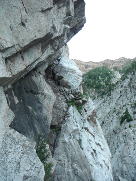 The angle of the climbing