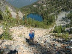 Rock Climbing Photo: Craig Dixon above Fred's Lake