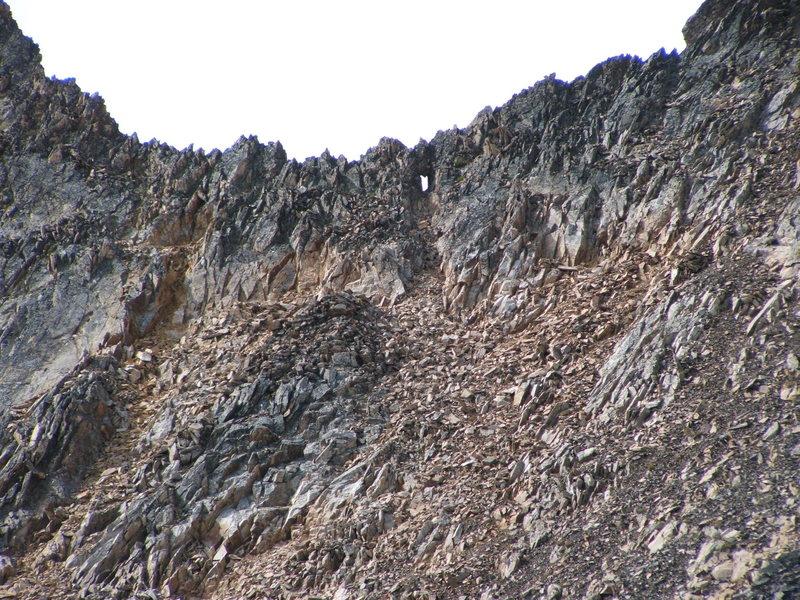 Window in the East ridge of Blackcap