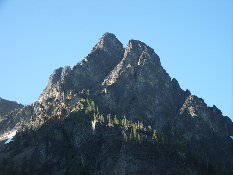 Rock Climbing Photo: Morning rays on shoulder of Blackcap