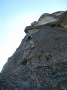 Rock Climbing Photo: The second pitch. Watch out for loose flakes off t...