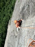 Rock Climbing Photo: Climbing the headwall