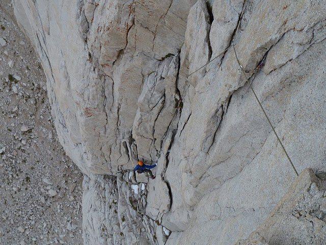 Rock Climbing Photo: Starting up pitch 3.