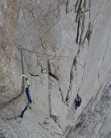 Rock Climbing Photo: The steep crux pitch.