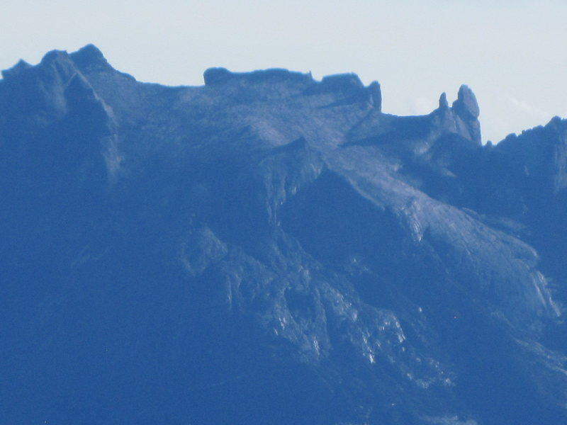 Mount Kinabalu, Sabah, Malaysian Borneo. Donkey Ears rocks clearly visible.