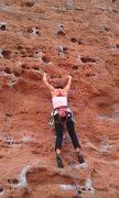 Rock Climbing Photo: Cassie leading