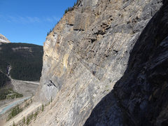 Rock Climbing Photo: Team of 3 at the pitch 3a belay, just before walki...