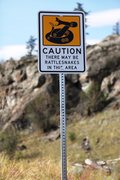 Rock Climbing Photo: Yet another warning sign, you gotta love the offic...