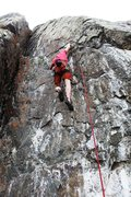 Rock Climbing Photo: The opening moves up to the arete.