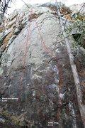 Rock Climbing Photo: The Beach Left Topo