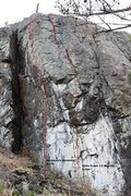 Rock Climbing Photo: The Beach Right - Left side Topo