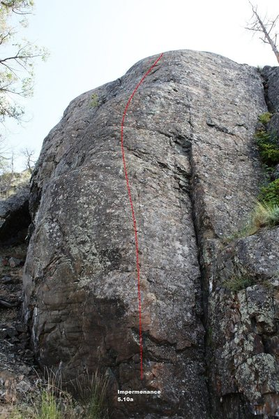 Rock Climbing Photo: The Beach Right - Right side Topo
