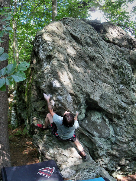 TJ on the FA of the &quot;Bicentennial Arete&quot; on the LRT in Grayson Highlands<br> <br>