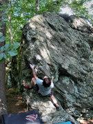 "Rock Climbing Photo: TJ on the FA of the ""Bicentennial Arete""..."