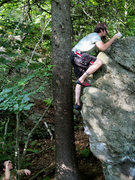 "Rock Climbing Photo: TJ on the FA of the ""Bicentennial Arete""..."