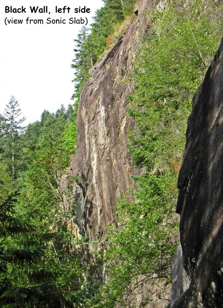 Rock Climbing Photo: Overview of the Black Wall, showing the left side ...