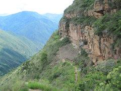 Rock Climbing Photo: climbing canyon Guamito, Colombia. 12/2010
