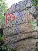 Rock Climbing Photo: Left side of brick wall