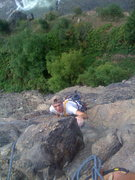 Rock Climbing Photo: Bro on Mission Wall CLear Creek