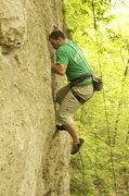 Rock Climbing Photo: OTC crux on toprope.