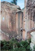 Rock Climbing Photo: Eddie Begoon on Not My Cross To Bear, 2005.
