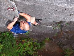 Rock Climbing Photo: Jake following Timberjack
