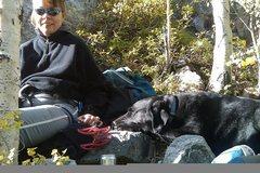 Rock Climbing Photo: Janice enjoying the day at White Cliff.