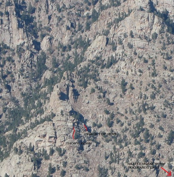 Approximates Rattlesnake Roof area.