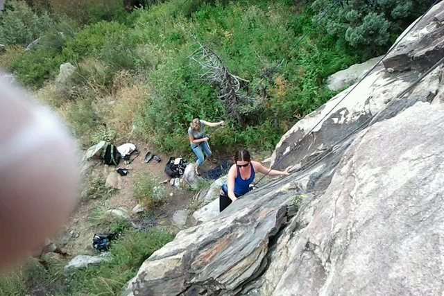 Rock Climbing Photo: Al squared on her first climb.