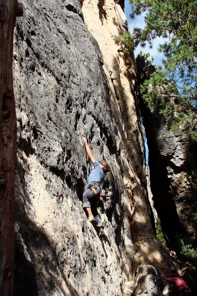 Will Bussey on Violet Sactuary (5.10a)
